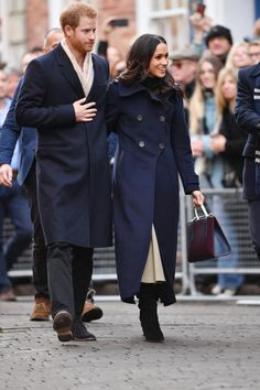 Meghan greeted crowds in Nottingham wearing this stylish Mackage coat