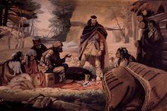 Radisson & Groseillers by Archibald Bruce Stapleton. Two coureurs des bois who went on to establish the Hudson's Bay Company. #newfrance #cdnhistory #historicalfashion