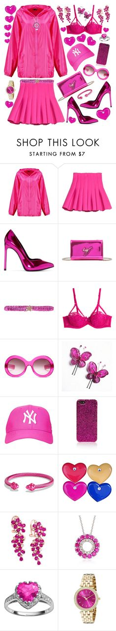 """""""PINK💗"""" by alex-vujanovic ❤ liked on Polyvore featuring Boohoo, Yves Saint Laurent, Giuseppe Zanotti, Argento Antico, L'Agent By Agent Provocateur, Oliver Goldsmith, Topshop, David Yurman, Effy Jewelry and Ross-Simons"""