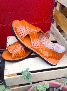 ff18f9d154a0 Authentic Mexican Huaraches genuine leather by dahliaNamaryllis