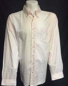Tommy Hilfiger Pink XXL Long Sleeve Button Front Shirt 2XL #TommyHilfiger #ButtonFront