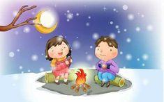 Brain Art, Childhood Friends, Hd Desktop, Winter Snow, Cute Kids, Fairy Tales, Cartoon, Wallpaper, Children