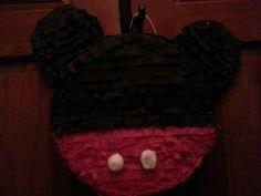 My DIY Mickey Mouse pinata.. not perfect but nit bad.