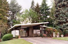 c. Early 1950s Mid-Century Modern Ranch | Architect: Omer Mithun of Mithun & Nesland | Surrey Downs, Bellevue, Washington 98004