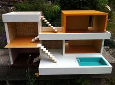 Bungalow Bodo Hennig 60er Jahre Puppenhaus Puppenstube Originalzustand zerlegbar | eBay