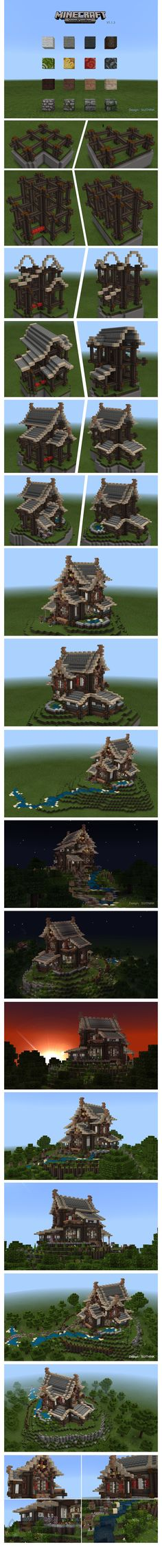 Cool Minecraft house tutorial.