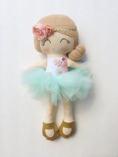 Ballerina doll fabric doll plush doll by LittleSunshineShop11
