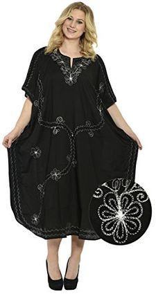 c0c7eeec2e Beach Rayon Plus Size Embroidered Rayon Beach Dress Long Caftan Cover Up  M4X Valentines Day Gifts