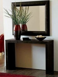 Pin by Fabian Cepeda on muebles in 2019 Living Room Designs, Living Room Decor, Bedroom Decor, Hallway Decorating, Interior Decorating, Interior Design, Entryway Console, Entryway Decor, Console Tables