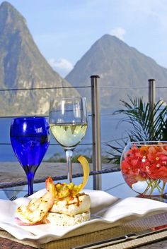 Dining at Jade Mountain, St. Lucia via gocaribbean.about.com