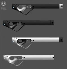 Somarian weapons by Florian Hättich Sci Fi Weapons, Weapon Concept Art, Fantasy Weapons, Design Set, Blender 3d, Armes Concept, Le Manoosh, Future Weapons, Industrial Design Sketch