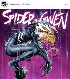 Spider Gwen Venom, Spider Gwen Cosplay, Marvel Comics Art, Marvel Heroes, Marvel Avengers, Marvel Girls, Comics Girls, Venom Girl, Spider Girl