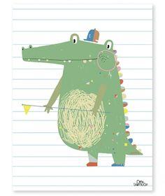 Affiche crocodile graphique