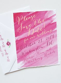 Beautiful Save the Date design by Mospens Studio