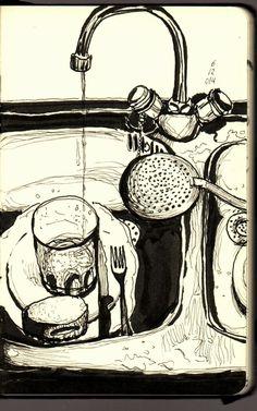 Urban Sketchers Spain. El mundo dibujo a dibujo.: Dibujo casero