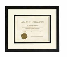 Amazon.com: Prinz 8-Inch-1/2-Inch by 11 Via Venta Certificate Black Wood Frame: Home & Kitchen