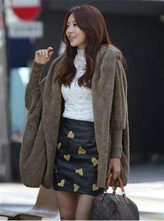 Korean Fashion Velvet Hooded Sweater Coat