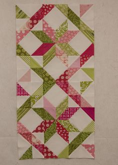 from the blue chair: Slash the Stash--April Edition- great block half square triangles