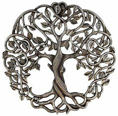 Old River Outdoors Tree of Life Wall Plaque 11 Decorative Celtic Garden Art Sculpture - Antique Silver Finish. Decorate your favorite wall with this beautifully detailed Tree of Life plaque from Old River Outdoors. Wall Sculptures, Sculpture Art, Celtic Tree Tattoos, Life Tree Tattoo, Celtic Tree Of Life, Tree Of Life Art, Celtic Patterns, Celtic Art, Celtic Decor