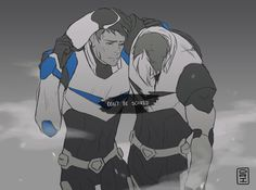 """Confidence/Insecurity by drisrt - """"Imagine a shaken up Lance trying to drag a wounded Shiro back to base. He blabbers to cover up how anxious he is. Shiro's not fooled for a second."""""""
