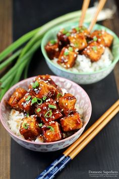 Honey Sesame Tofu via @domesticsuper