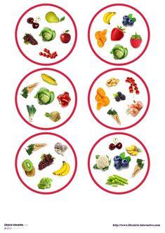 Une version du célèbre jeu de DOBBLE sur le thème des fruits et des légumes. Double Game, Fruit Cartoon, Cute Fruit, Math For Kids, Kindergarten, Decorative Plates, Arts And Crafts, Teaching, Tableware