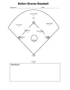 baseball scorecard | Little League | Pinterest