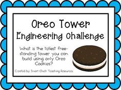 BC Core Competency: Thinking Oreo Tower: Engineering Challenge Project ~ Great STEM Activity! Stem Science, Teaching Science, Science Party, Physical Science, Science Classroom, Science Education, Earth Science, Life Science, Higher Education