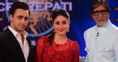 Kareena and Imran shake the tooh on KBC   PINKVILLA