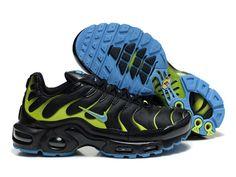 cbdc6b6a796 Chaussures de Nike Air Max Tn Requin Homme Noir et Vert Acheter Nike Tn