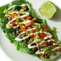 Ultimate Green Taco Wraps by Oh She Glows  Excellent hot night dinner choice (sans the meat of course)