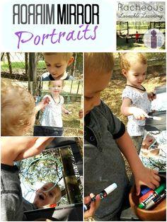 Reggio inspired Mirror Portraits -- what a neat idea! Art Activities For Kids, Preschool Art, Creative Activities, Toddler Preschool, Art For Kids, Creative Curriculum, Activity Ideas, Montessori, Outdoor Classroom