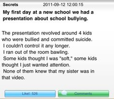 I cried when I read this. I HATE bullying