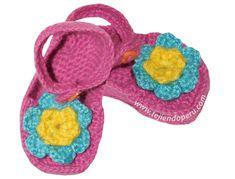 Cómo tejer zapatitos con tirantes a crochet para bebes
