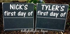 This double sided chalkboard photo prop can be used year after year! One side is for the first day of school and the other side is for the last day. Both sides
