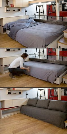 Your bedroom doesn't need to be in a loft- what about putting it under the floor? #tinyhousehacks @JoeTHH www.tinyhousehack... facebook.com/tinyhousehacks