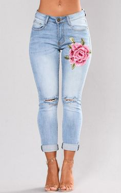 Women's High Waist strenchy Skinny Jeans Pants