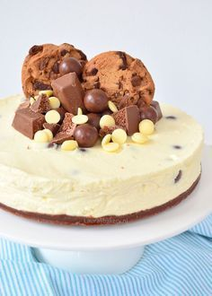 Witte chocolade cheesecake met bros