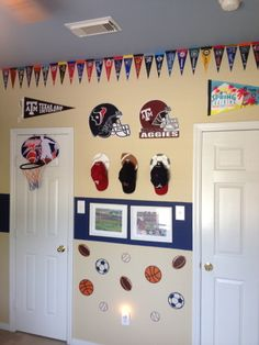 Sports Themed Boys Rooms