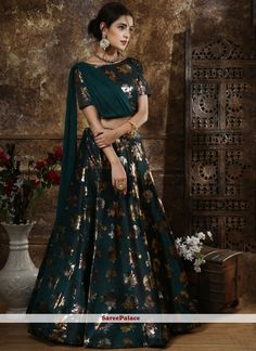 Buy Green Foil print Lehenga Choli Online