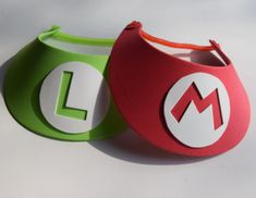 Mario Birthday Party Favor Hats set of 6 by MonkeyKnickers on Etsy