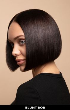 Ask your hairdresser for this sexy blunt bob that's on-trend right now! See all of the details for this look by tapping Visit and you'll also see the remaining 17 gorgeous photos of blunt cut bob haircuts for a striking style. // Photo Credit: @demetriusschool_eng on Instagram Blunt Bob Haircuts, Blunt Cuts, Latest Hairstyles, Face Shapes, Short Hair Cuts, Hairdresser, My Girl, Lady, Hair Styles
