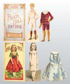 Rose Bud Lot of McLoughlin Paper Dolls.