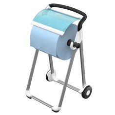 Συσκευές Για Βιομηχανικούς Χώρους: Βάση Δαπέδου Για Ρολό Tork Support Mural, Toilet Paper, Turquoise, Bathroom, Position, Fibres, Parfait, Products, Plastic
