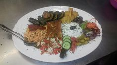 Vegetarische Platte Griechisch