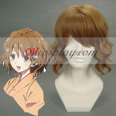 Hana Saku Iroha matsumae ohana Brown Cosplay Wig