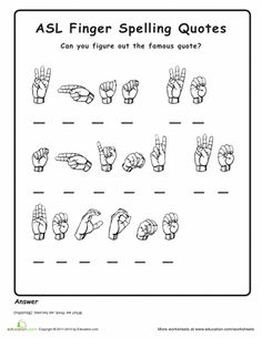 "Fingerspelling decoding quotes worksheet – ""What we think, we become"". Fingerspelling decoding quotes worksheet – ""What we think, we become"". Sign Language Sentences, Sign Language Games, Sign Language Basics, Simple Sign Language, Sign Language For Kids, Sign Language Phrases, Sign Language Alphabet, Sign Language Interpreter, British Sign Language"
