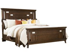 Broyhill Estes Park King Panel Bed in Artisan Oak 4364 Still want this bedroom. Bed/chest/dresser/mirror $3800