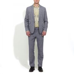 Steven Alan Oliver suit separates. Linen/cotton blend. Early candidate for my summer suit purchase.