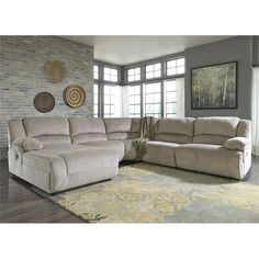 Ashley Toletta 5 Piece Left Chaise Reclining Sectional in Granite - 56703-05-46-77-19-41-KIT